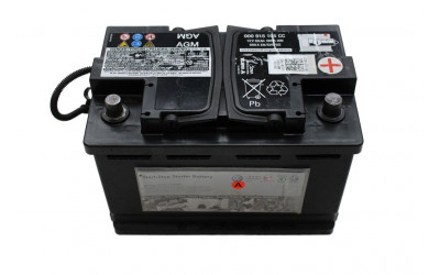 Родной аккумулятор AUDI AGM 68 А/ч