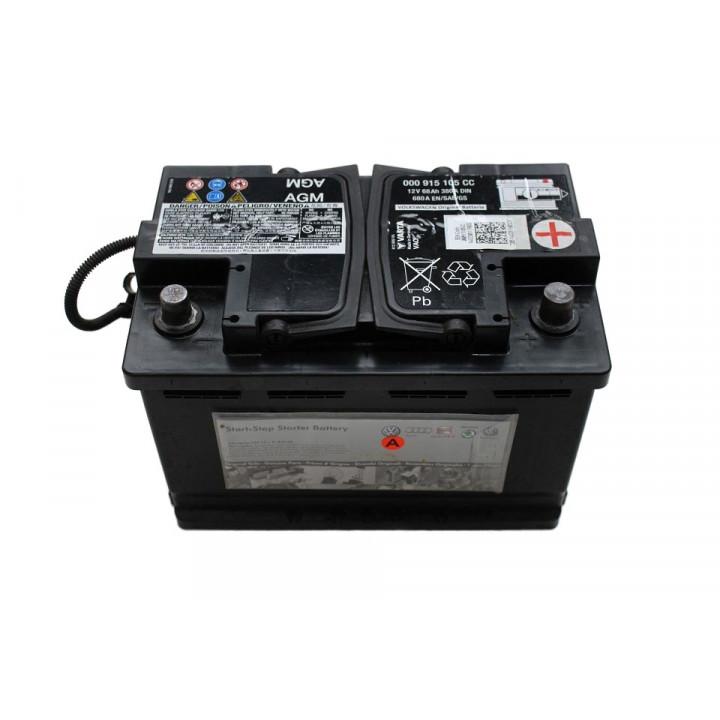 Родной аккумулятор AUDI (000915105CC) 12в 68A/h  DIN 380A  AGM.