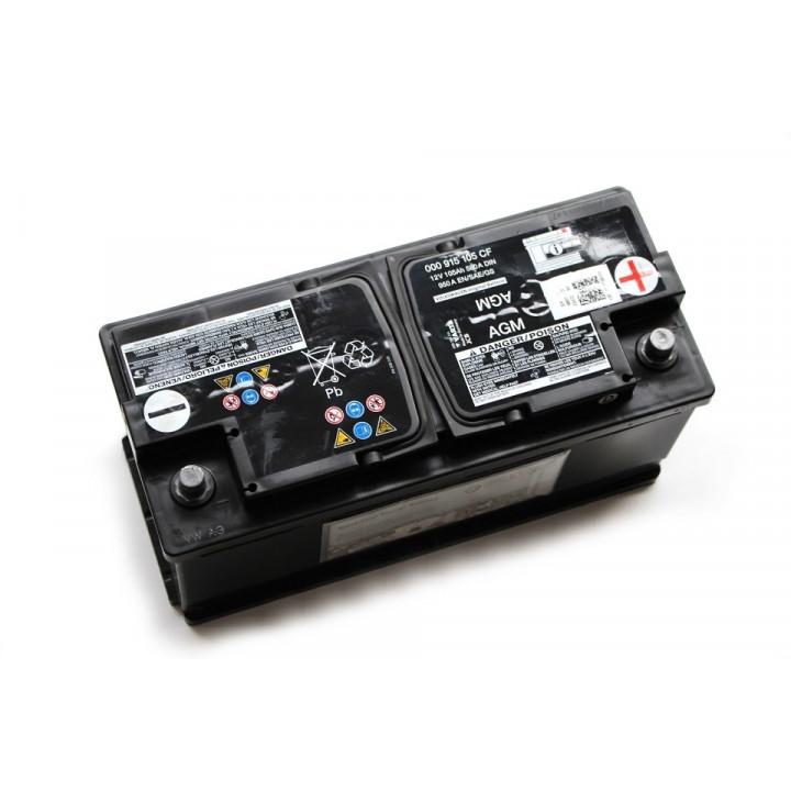 Родной аккумулятор AUDI (000915105CF) 12в 105A/h  DIN 580A  AGM.