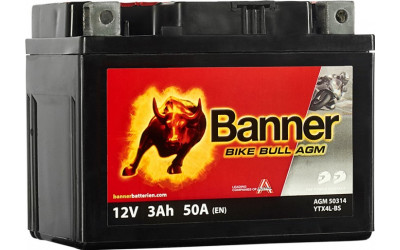 BANNER Bike Bull AGM (50314 / YTX4L-BS) 3 А/ч