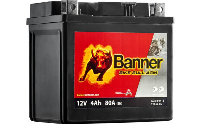 BANNER Bike Bull AGM (50412 / YTX5L-BS) 4 А/ч
