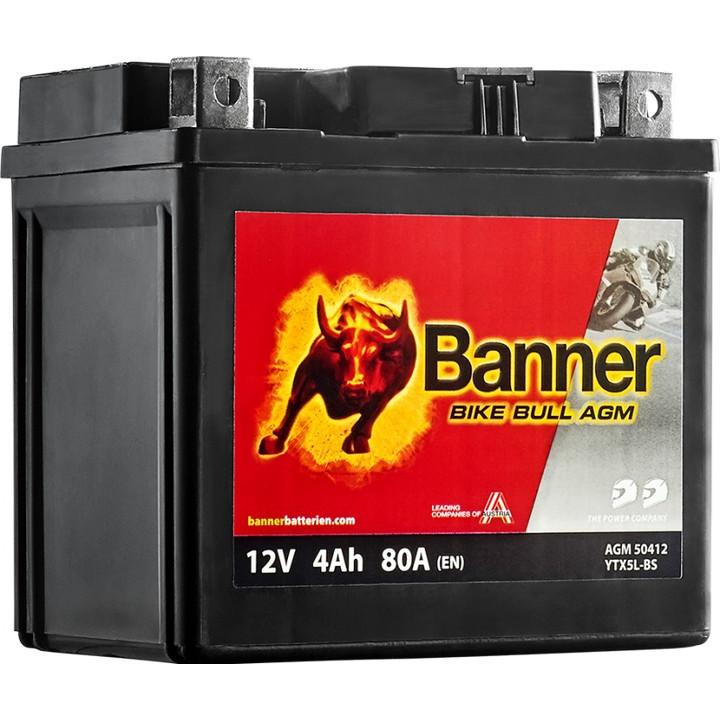 Мото аккумулятор BANNER Bike Bull AGM (50412) 4 А/ч