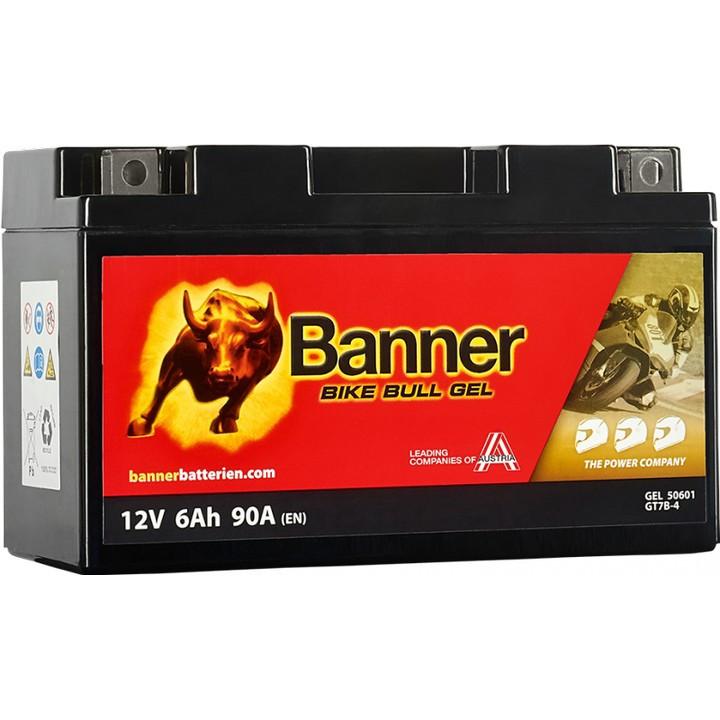 Мото аккумулятор BANNER Bike Bull GEL (50601) 6 А/ч
