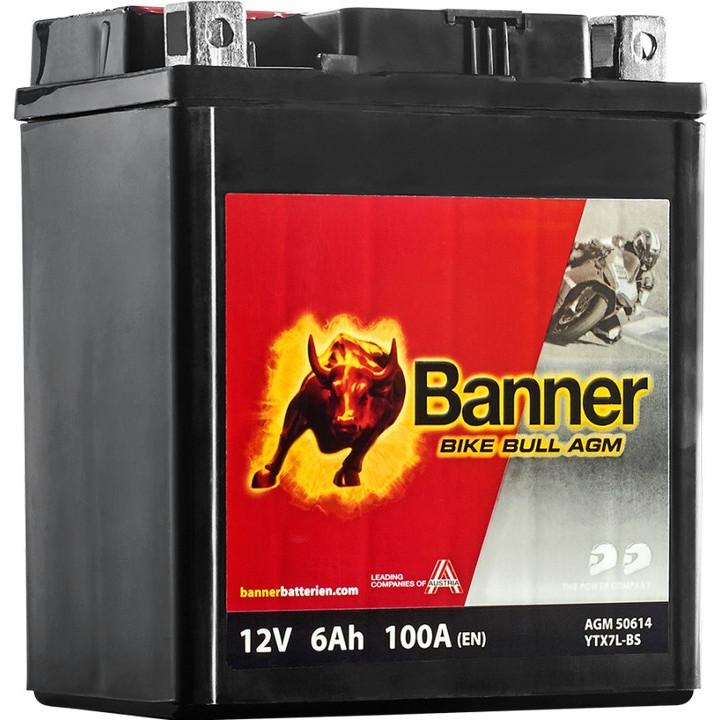 Мото аккумулятор BANNER Bike Bull AGM (50614) 6 А/ч