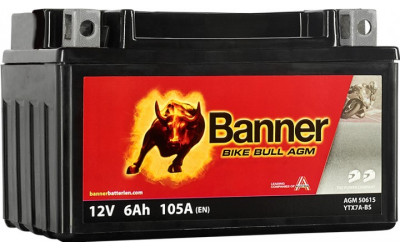 BANNER Bike Bull AGM (506 15 / YTX7A-BS) 6 А/ч