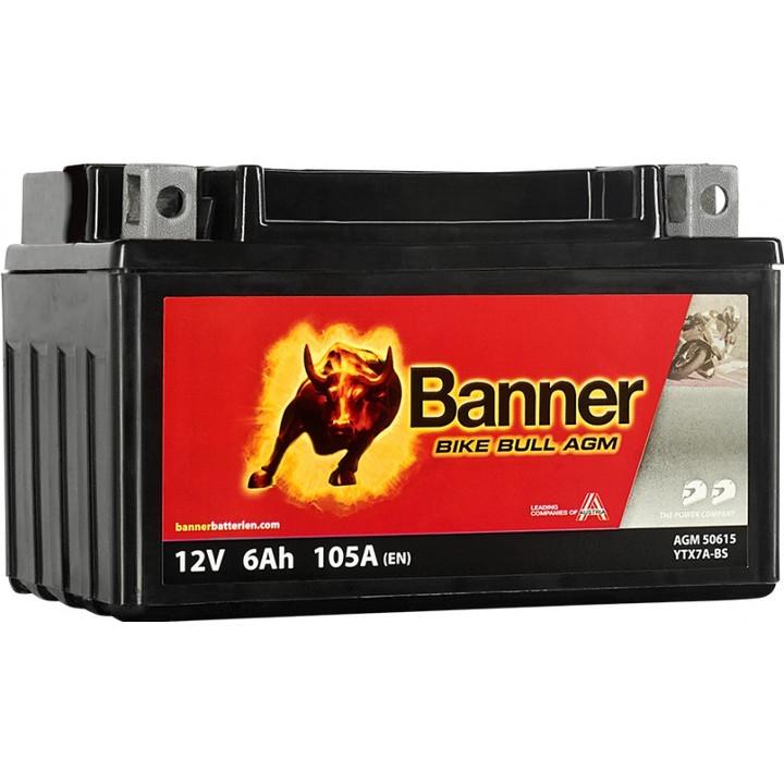Мото аккумулятор BANNER Bike Bull AGM (50615) 6 А/ч