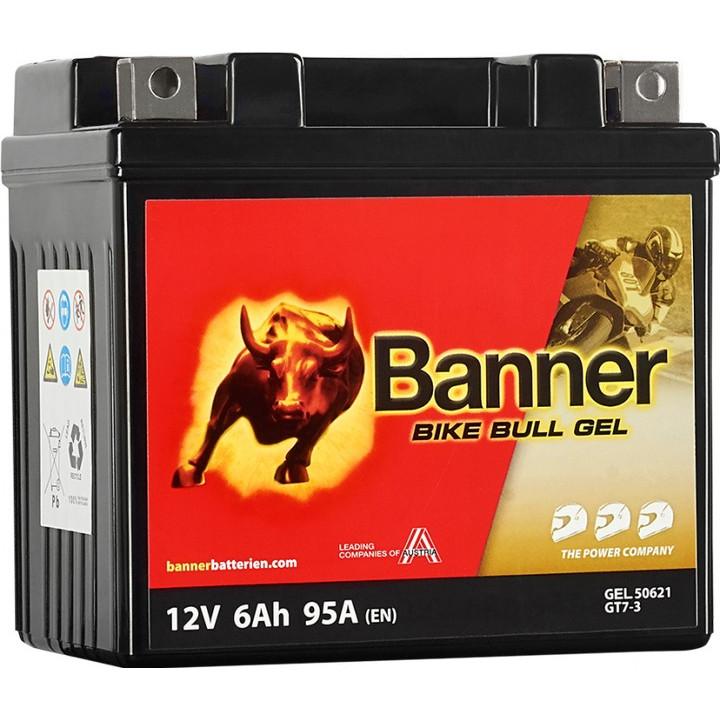 Мото аккумулятор BANNER Bike Bull GEL (50621) 6 А/ч