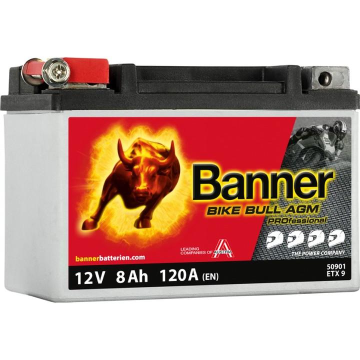 Мото аккумулятор BANNER Bike Bull AGM PRO (50901) 8 А/ч