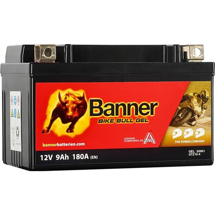 Мото аккумулятор BANNER Bike Bull GEL (50901) 9 А/ч
