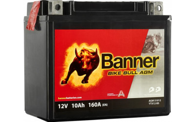 BANNER Bike Bull AGM (51012 / YTX12-BS) 10 А/ч