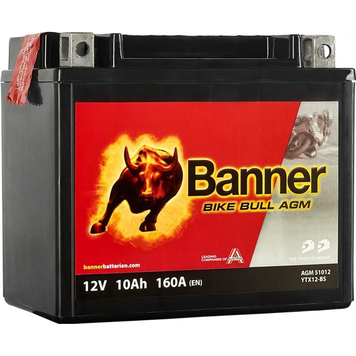 Мото аккумулятор BANNER Bike Bull AGM (51012) 10 А/ч