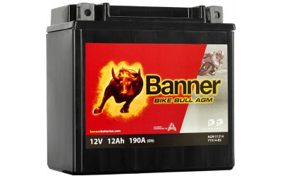 BANNER Bike Bull AGM (51214 / YTX14-BS) 12 А/ч