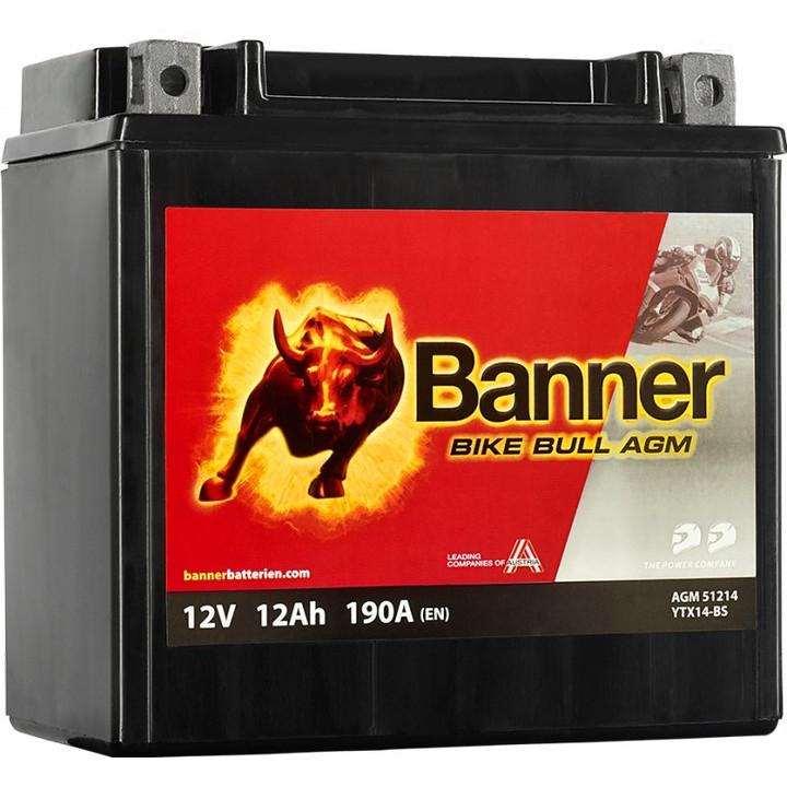 Мото аккумулятор BANNER Bike Bull AGM (51214) 12 А/ч