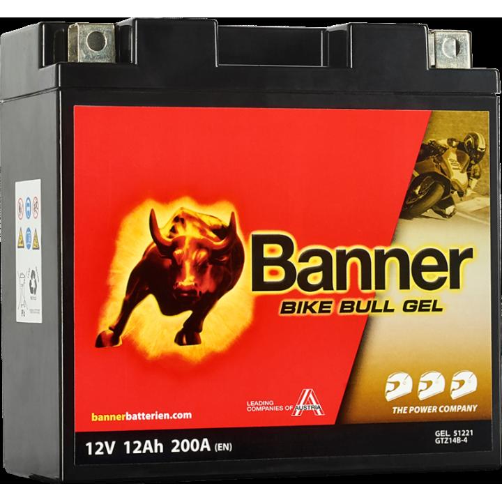 Мото аккумулятор BANNER Bike Bull GEL (51221) 12 А/ч