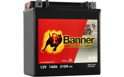 BANNER Bike Bull AGM (51422 / YTX16-BS) 14 А/ч