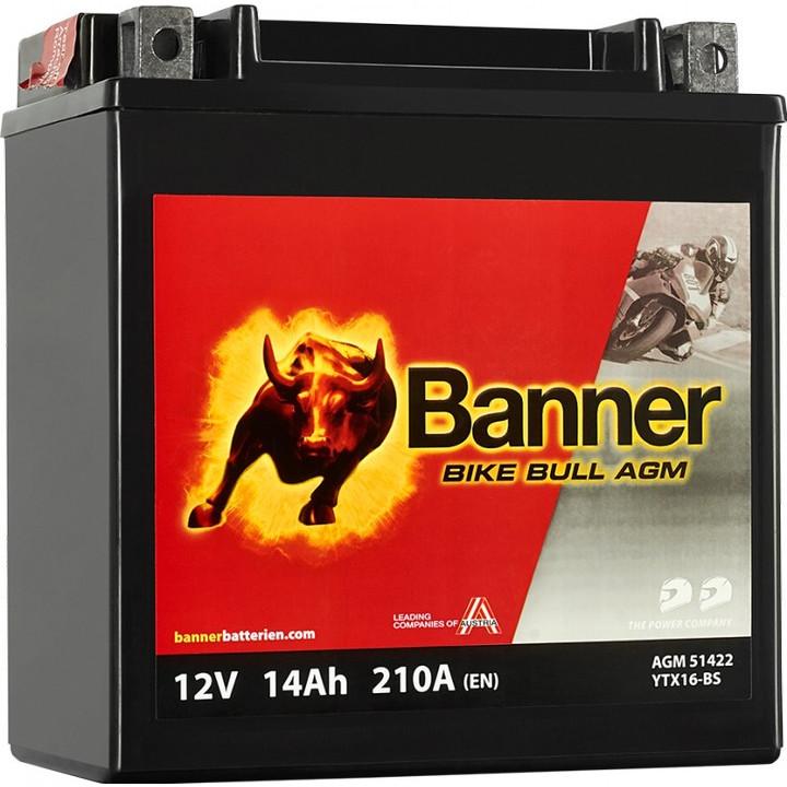 Мото аккумулятор BANNER Bike Bull AGM (51422) 14 А/ч