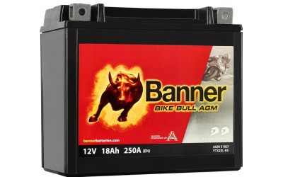 BANNER Bike Bull AGM (51821 / YTX20L-BS) 18 А/ч