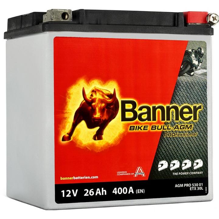 Мото аккумулятор BANNER Bike Bull AGM PRO (53001) 26 А/ч