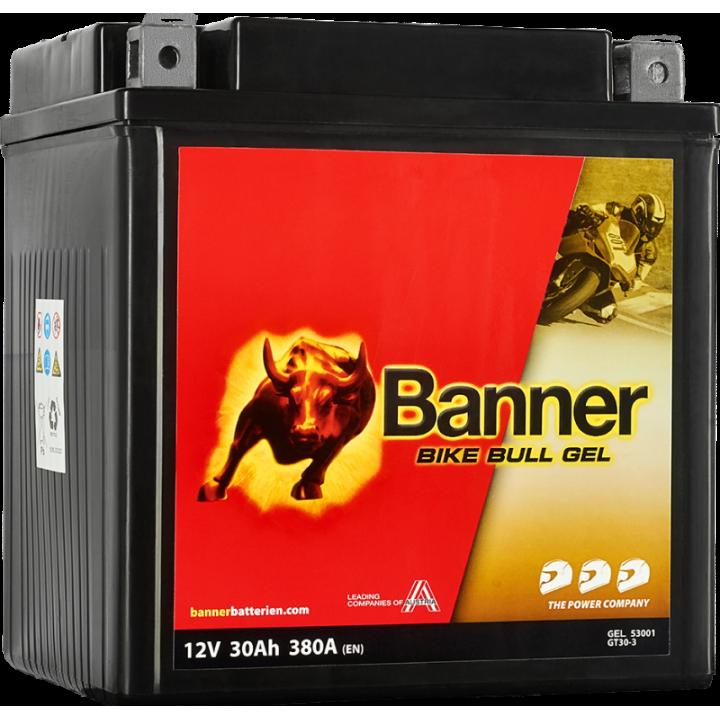 Мото аккумулятор BANNER Bike Bull GEL (53011) 30 А/ч