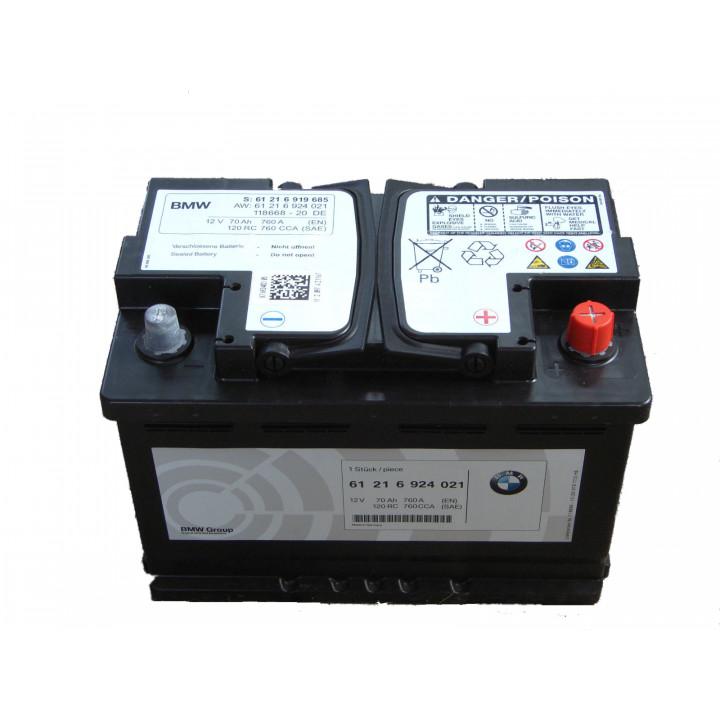 Родной аккумулятор BMW (61216805461) 12в 70A/h 760A  AGM.