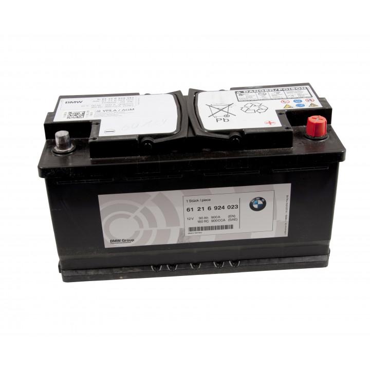 Родной аккумулятор BMW (61216924023) 12в 90A/h 900A  AGM.